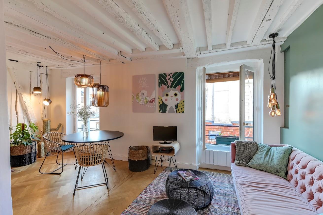 holborn - blog décoration d'intérieur - design d'espace - aménagement studio - vert menthe - Appartement rue de Jarente Paris Le Marais