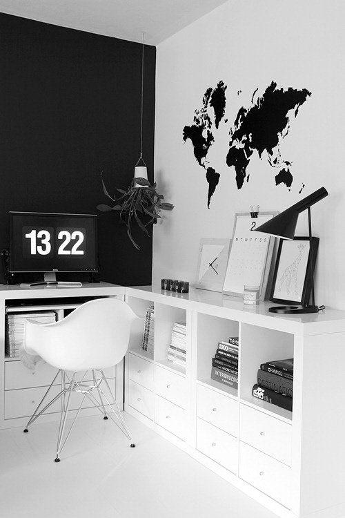 Awesome Chambre Mur Noir Et Blanc Images - Matkin.Info - Matkin.Info